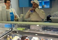 Şafak Sezer kendi dondurmasını hazırladı