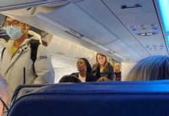 Uçakta maske takmayı reddeden yolcu nedeniyle pilot acil iniş yaptı