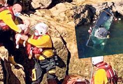 Kayalığa sürdü ailesini kurtardı