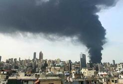 Son dakika... Beyrut limanında büyük yangın