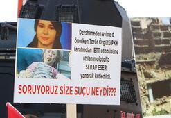 Şırnakta kadınlardan HDP önünde terör örgütü PKKya tepki