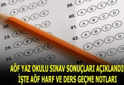 2020 AÖF yaz okulu sınav sonuçları için tıkla, CD ile geçilir mi AÖF harf notları ve ders geçme notları nedir