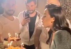 Tuğba Yurt klip arasında doğum günü kutladı