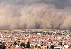 Ankara'da kum fırtınası şoku