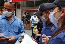 Maske takmayan vatandaştan polise tehdit