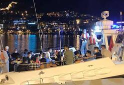 Alanyada teknede 120 kaçak göçmen yakalandı
