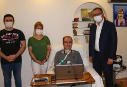 Bakan Kasapoğlundan ALS hastası Gökçeke ziyaret