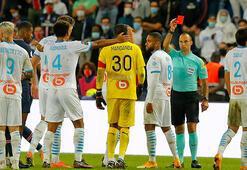 PSGye Marsilya darbesi 5 kırmızı kart...