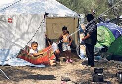 Moria yerine çadır kamp