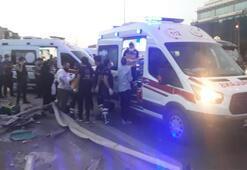 Son dakika: Yolcu otobüsü yan yattı Yaralılar var