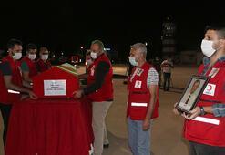 Suriyede şehit olan Türk Kızılay personelinin cenazesi memleketine uğurlandı