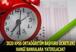 2020 KPSS ortaöğretim başvuru ücreti ne kadar, kaç TL KPSS ortaöğretim başvuru ücretleri hangi bankalara yatırılacak