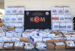Ankarada 57 bin paket eski ambalajlı sigara ele geçirildi
