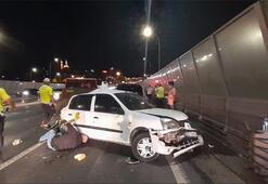 Haliç Köprüsünde faciadan dönüldü 1 yaralı