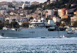 İngiliz araştırma gemisi İstanbul Boğazından geçti