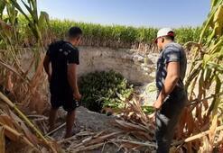 Konyada mısır tarlasında obruk oluştu Çok büyük ve korkutucu