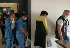 Şampuan kutusu parçalarıyla 11 evi soyan 5 kadın tutuklandı