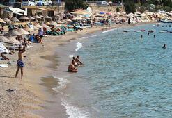 Bodrum sahillerinde yoğunluk azaldı