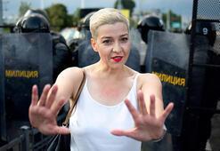 Belarustaki protestoları örgütleyen isimlerden Maria Kolesnikova yargılanıyor
