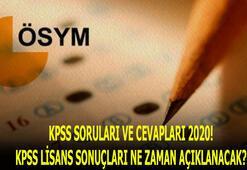 KPSS soruları ve cevapları 2020 açıklandı KPSS lisans sonuçları ne zaman açıklanacak