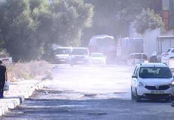 Büyükçekçekmecede mahalle sakinlerinin toz tepkisi