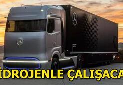 Mercedes hidrojenle çalışan TIRını tanıttı