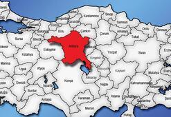 Ankara Haritası: Ankara İlçeleri Nelerdir Ankara İlinin Nüfusu Kaçtır, Kaç İlçesi Vardır