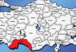 Antalya Haritası: Antalya İlçeleri Nelerdir Antalya İlinin Nüfusu Kaçtır, Kaç İlçesi Vardır