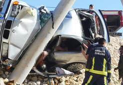 Antalyada kan donduran kaza Anne hayatını kaybetti