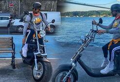 Elektrikli bisikletin yedek bataryası patladı Sürücü son anda kurtuldu