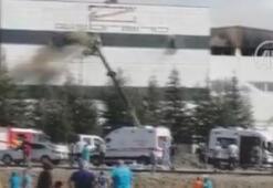 Son dakika... Ankarada fabrikada korkutan yangın