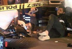 Şişlide polisten kaçan şüphelilerin kaza yapması kamerada
