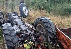 Bursada traktör devrildi: 1i ağır 3 yaralı