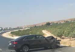 Gaziantepte lüks otomobil bir araca çarptı