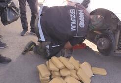 Emekli polisin aracında 61 kilo 750 gram eroin bulundu