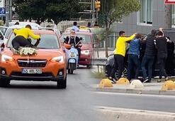 Bahşiş için canlarını tehlikeye attılar Polis ceza kesti