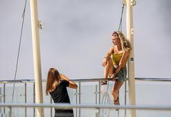 Tünektepeye Rus turistlerden yoğun ilgi