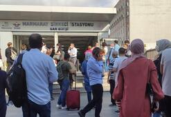 Son dakika... Marmarayda arıza Seferler durduruldu