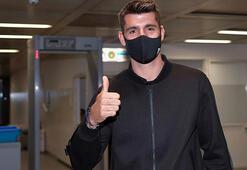 Alvaro Morata, Juventusa imza atmak için Torinoya geldi...