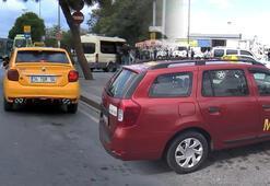İstanbulda taksicilerin bordo tartışması