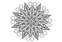 Çiçekli mandala boyama sayfası