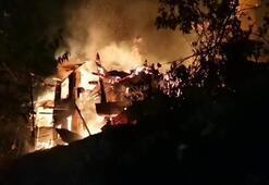 Artvin'de kabus gecesi 4 ev, alev alev yandı