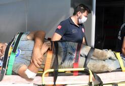 Tekirdağ'da 5 metreden düşen işçi yaralandı