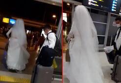 Havalimanında gelini gören şaşkına döndü