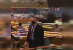 Cumhurbaşkanı Erdoğanın sözleri, BMde İsrailin temsilcisine salonu terk ettirdi