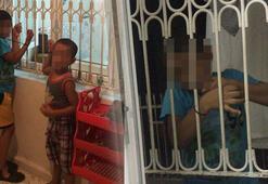 Alacağı için çocukları kaçırıp, pencere demirine bağladı