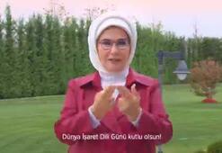 Emine Erdoğandan, Dünya İşaret Dili Günü paylaşımı