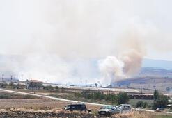 Malkarada çıkan anız yangınında 700 dönüm arazi zarar gördü