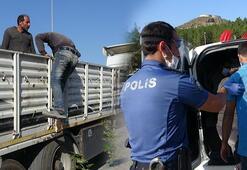 Polisin kimlik sorduğu kaçak göçmenler, evde unuttuk dedi