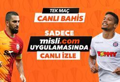 Galatasaray - Hajduk Split maçı canlı bahis heyecanı Misli.comda